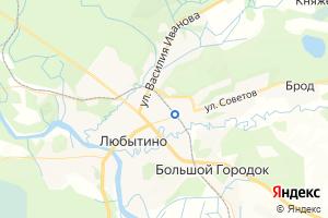 Карта пос. Любытино Новгородская область