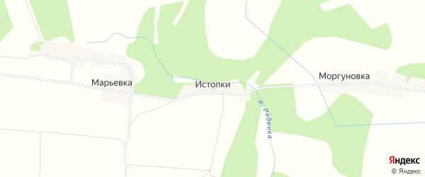 Карта деревни Истопки в Смоленской области с улицами и номерами домов