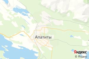Карта г. Апатиты Мурманская область