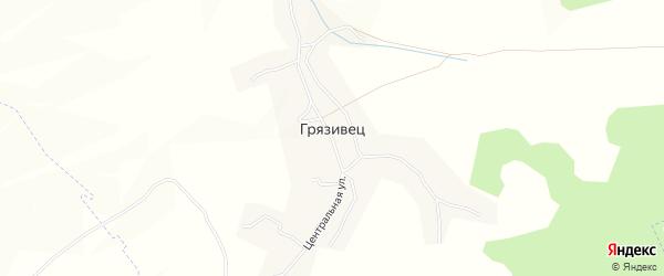 Карта села Грязивца в Брянской области с улицами и номерами домов