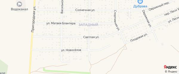 Светлая улица на карте Почепа с номерами домов
