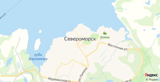 Карта Североморска с улицами и домами подробная. Показать со спутника номера домов онлайн