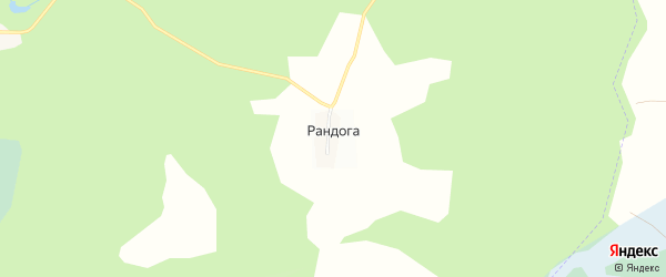 Карта деревни Рандоги в Ленинградской области с улицами и номерами домов