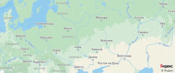 Карта Брянской области с городами и районами