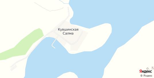 Карта населенного пункта Кувшинская Салма в Гаджиево с улицами, домами и почтовыми отделениями со спутника онлайн