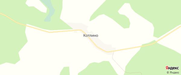 Карта деревни Котлино в Смоленской области с улицами и номерами домов