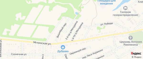 Проезд 2-й Мичурина на карте Почепа с номерами домов