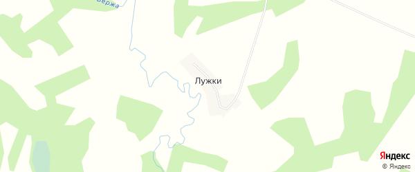 Карта деревни Лужки в Смоленской области с улицами и номерами домов