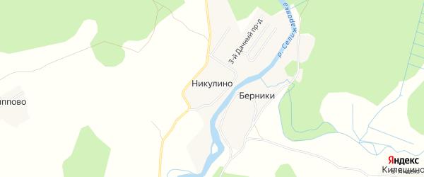 Карта деревни Никулино в Тверской области с улицами и номерами домов