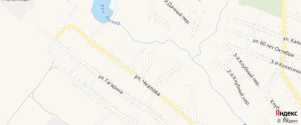 Переулок 2-й Чкалова на карте Почепа с номерами домов