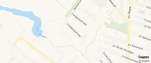 3-й Дачный переулок на карте Почепа с номерами домов