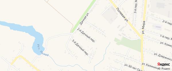 2-й Дачный переулок на карте Почепа с номерами домов