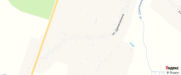 Улица Щемелинина на карте села Семцев Брянской области с номерами домов