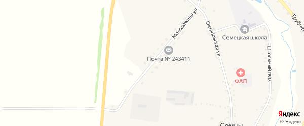 Молодежная улица на карте села Семцев с номерами домов