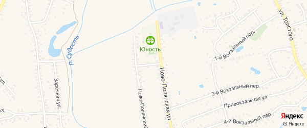 Ново-Полянский переулок на карте Почепа с номерами домов