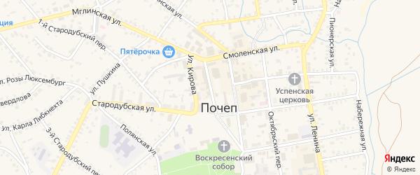 1-й Октябрьский проезд на карте Почепа с номерами домов