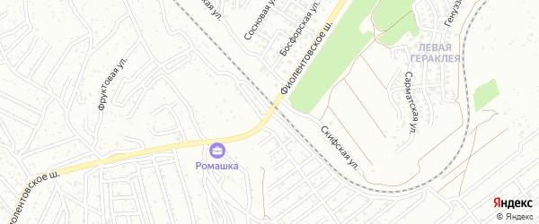 Фиолентовское шоссе на карте территории ТСН ТСН СНТ Дельфина с номерами домов