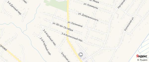 Улица 60 лет Октября на карте Почепа с номерами домов
