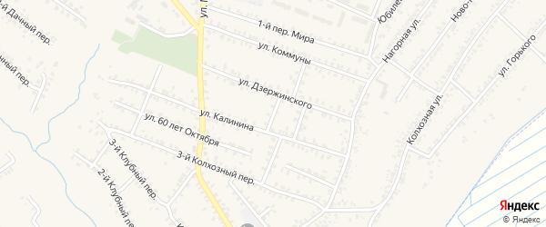 Переулок 3-й Калинина на карте Почепа с номерами домов