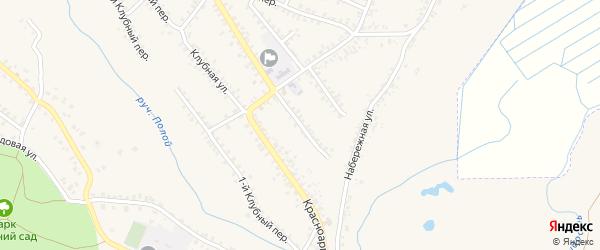 1-й Колхозный переулок на карте Почепа с номерами домов