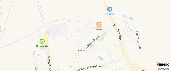 Пролетарский переулок на карте Почепа с номерами домов