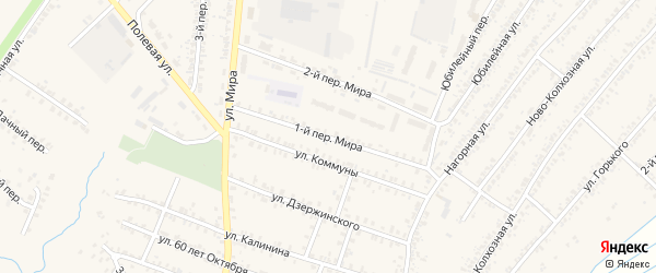 Переулок 1-й Мира на карте Почепа с номерами домов