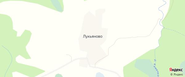 Карта деревни Лукьяново города Осташкова в Тверской области с улицами и номерами домов