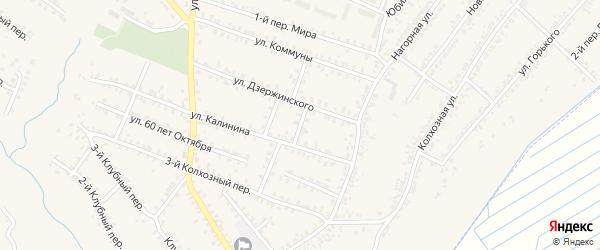 Переулок 1-й Калинина на карте Почепа с номерами домов