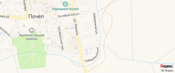 Улица Гоголя на карте Почепа с номерами домов