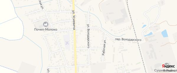 Улица Володарского на карте Почепа с номерами домов