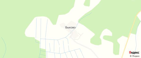 Карта деревни Быково в Тверской области с улицами и номерами домов