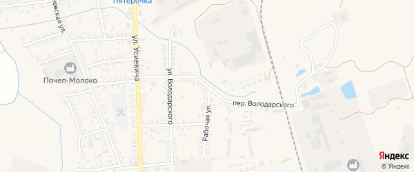 Переулок Володарского на карте Почепа с номерами домов