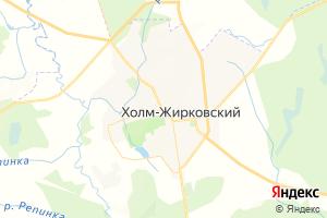 Карта пгт Холм-Жирковский Смоленская область