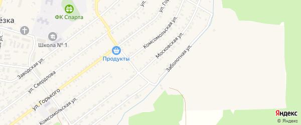 Московская улица на карте поселка Белой Березки Брянской области с номерами домов