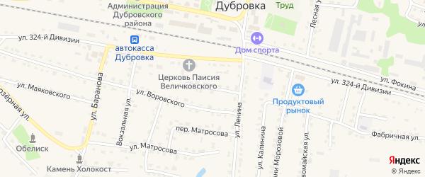 Улица Гайдукова на карте поселка Дубровки с номерами домов