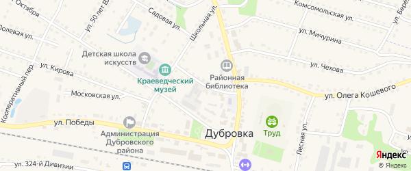 Красная улица на карте поселка Дубровки с номерами домов