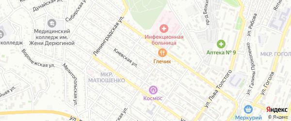 Улица Адмирала Азарова на карте Севастополя с номерами домов