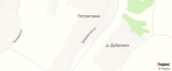 Рябиновая улица на карте поселка Дубровки с номерами домов