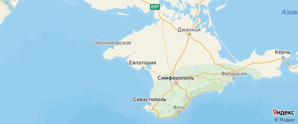 Карта Сакского района Республики Крыма с городами и населенными пунктами