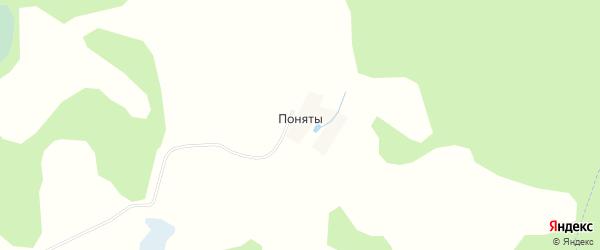 Карта деревни Понят в Смоленской области с улицами и номерами домов