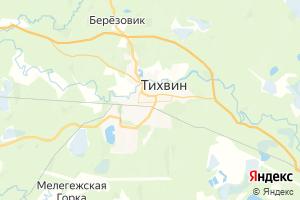 Карта г. Тихвин Ленинградская область