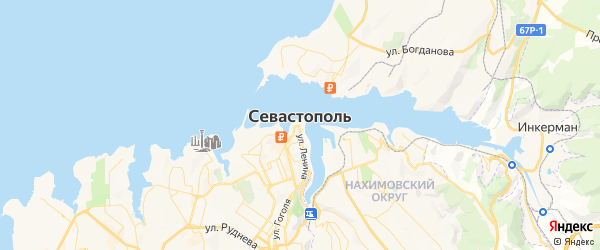 Карта Севастополя с районами, улицами и номерами домов