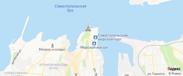 Территория ТСН ТСН СНТ Лаванда на карте Севастополя с номерами домов