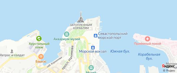 Набережная Парк Победы на карте Севастополя с номерами домов