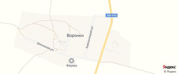 Хмельницкая улица на карте села Воронки Крыма с номерами домов