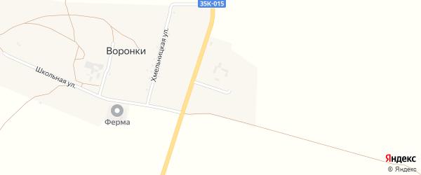 Рабочая улица на карте села Воронки Крыма с номерами домов