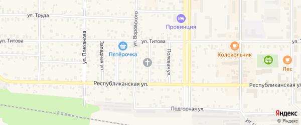 Солнечная улица на карте Лодейного Поля с номерами домов