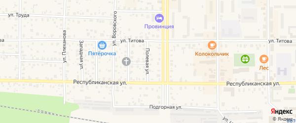 Полевая улица на карте Лодейного Поля с номерами домов