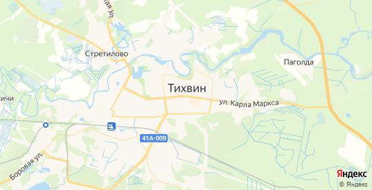 Карта Тихвина с улицами и домами подробная. Показать со спутника номера домов онлайн