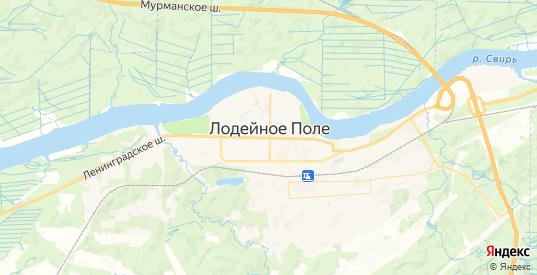 Карта Лодейного Поля с улицами и домами подробная. Показать со спутника номера домов онлайн